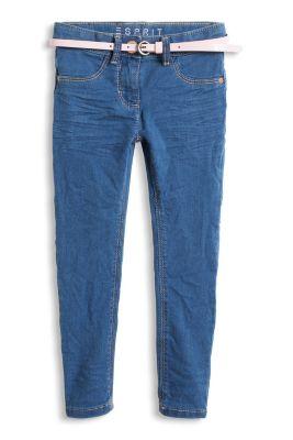 Weiche Stretch Jeans mit Lackgürtel