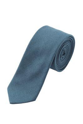 Einfarbige Krawatte, 100% Baumwolle