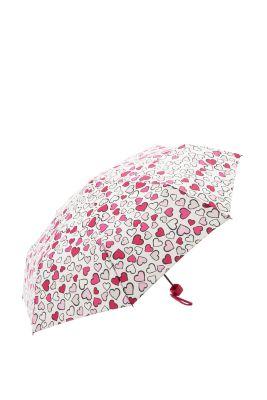 Regenschirm mit variierenden Herzen