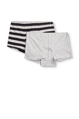 Baumwoll-Jersey-Shorts im Doppelpack