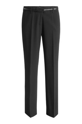 Basic Business-Hose mit Stretch und Gürtel