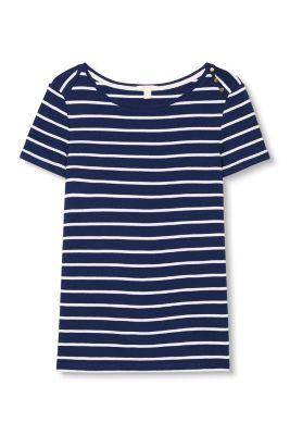 Ringel-Shirt aus 100% Baumwolle