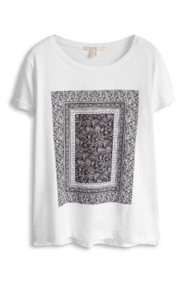 Esprit / Baumwoll T-Shirt mit Artwork