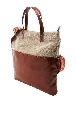 Esprit / Schultertasche im Material-Mix