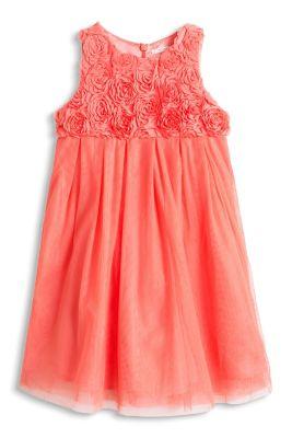 Esprit / Tüll Kleid mit Chiffon Blüten und Taftrock
