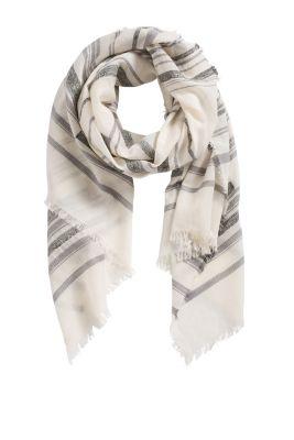 Esprit / Schal mit eingewebten Streifen