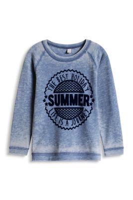 Esprit / Baumwoll-Mix Vintage Sweatshirt mit Print