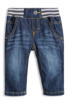 Esprit / Jeans mit Rippbund und Washed-Effekten