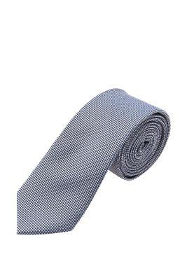 Esprit / Krawatte mit Minimal-Dessin, 100% Seide