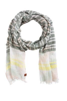 Esprit / Gestreifter Schal, 100% Baumwolle