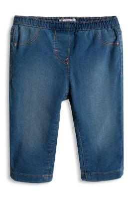 Esprit / Soft stretch jeans + elasticated waistband