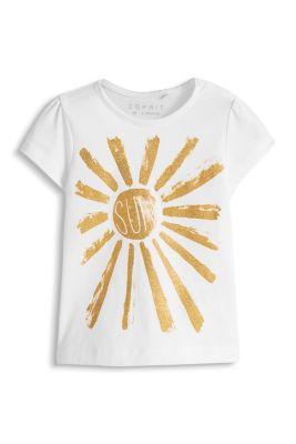 Esprit / Glitter Print T-Shirt, 100% Baumwolle