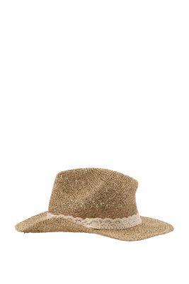 Esprit / Stroh-Hut mit Spitzenband