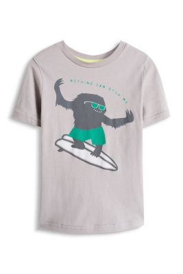 Esprit / T-shirt with a monster print, 100% cotton