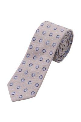 Esprit / Cravate à imprimé, 100 % coton