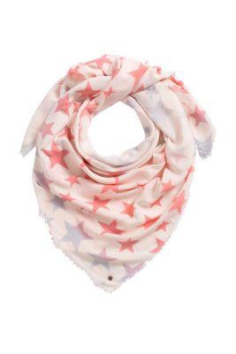 Esprit / Feiner Schal mit Sternen-Print