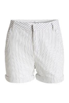 Esprit / Gestreifte Shorts, Baumwolle/Lyocell