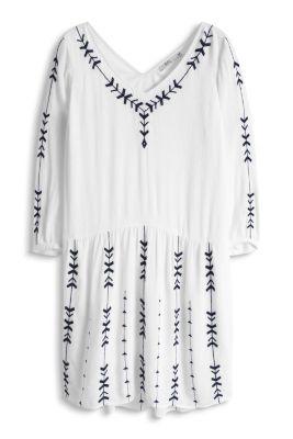 Esprit / Besticktes Kleid mit weichem Fall