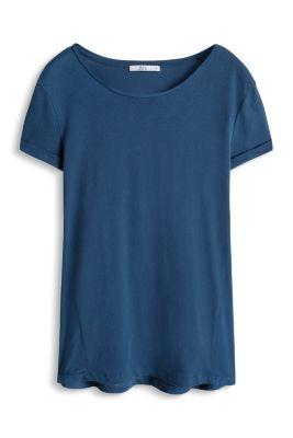 Esprit / Baumwoll T-Shirt im Materialmix