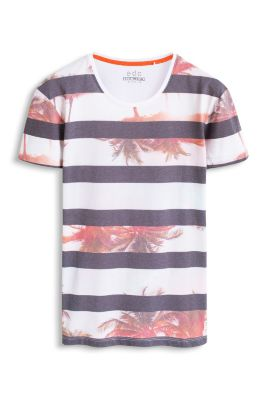 Esprit / Photo/stripe print jersey t-shirt