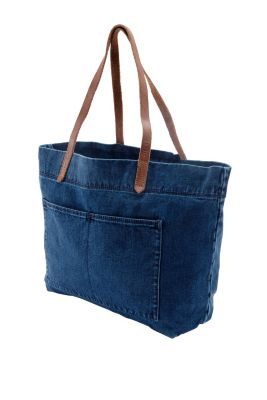 Esprit / Shopper with leather handles