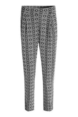 Esprit / Stretch jersey print trousers