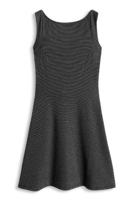 Esprit / Jersey-Stretch-Kleid mit Jacquard-Tupfen