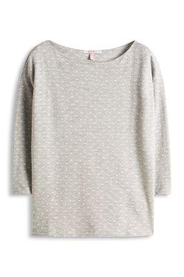 Esprit / Sweater imprimé en coton mélangé