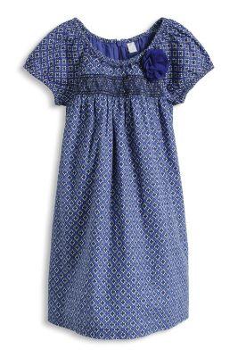 Esprit / Ethno Baumwollkleid mit Zierblüte