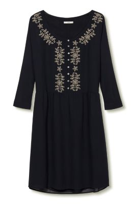 Esprit / Besticktes Kleid aus Georgette
