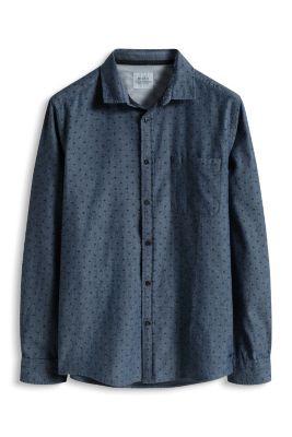 Esprit / Print Hemd, 100% Baumwolle