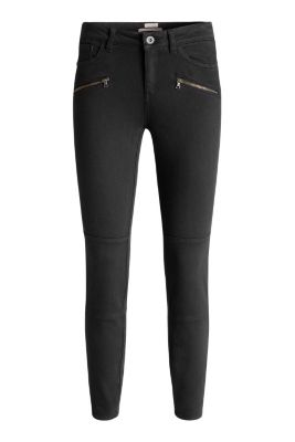 Esprit / Cropped biker-style stretch trousers