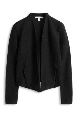 Esprit / Textured open-fronted sweatshirt cardigan