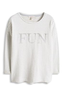 Esprit / Sweatshirt with embroidery, 100% cotton