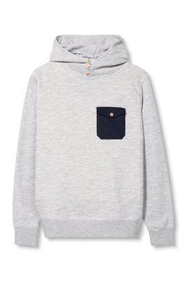 Esprit / Cotton blend sweat hoodie in a knit look
