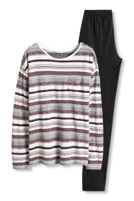 Esprit / Jersey-Pyjama aus 100% Baumwolle