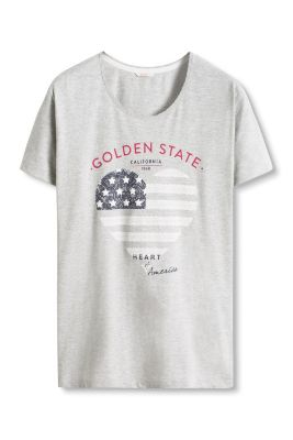 Esprit / Gemêleerd shirt van een katoenmix