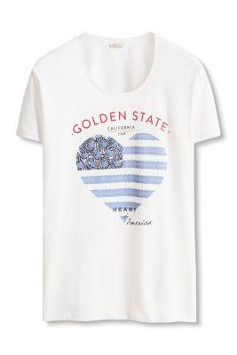 Esprit / Meliertes Shirt aus Baumwoll-Mix