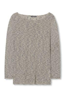 Esprit / Sweater in Strukturoptik mit Lurex-Bouclé