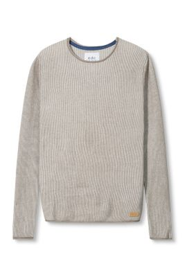 Esprit / Finely ribbed cotton jumper