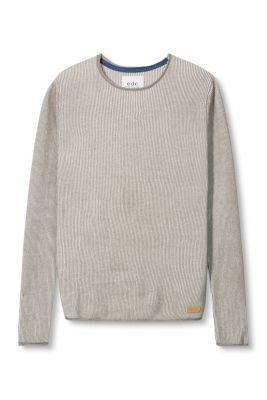 Esprit / Fein gerippter Pulli aus Baumwolle