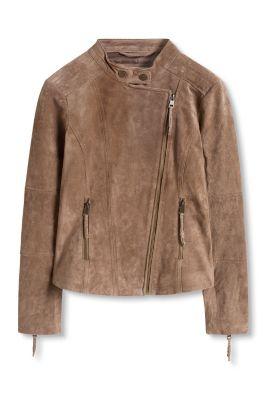 Esprit / Biker-style jacket, 100% leather