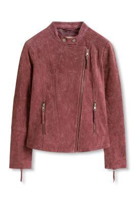 Esprit / Jacke im Biker-Stil, 100% Leder
