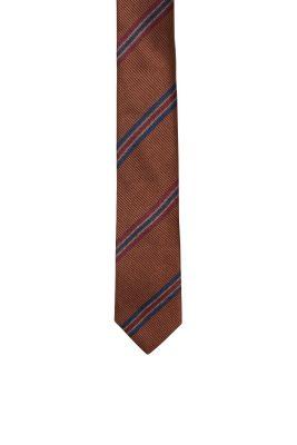 Esprit / Striped tie, 100% silk