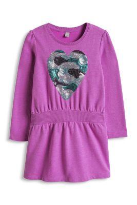 Esprit / Sweat-Kleid mit Herz aus Pailletten