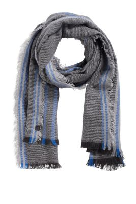 Esprit / soft wide woven scarf with stripes