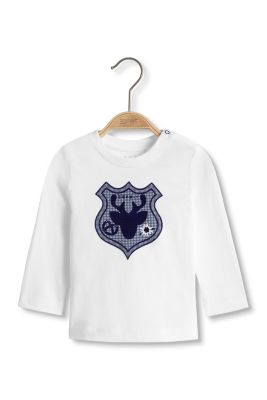Esprit / Cotton long sleeve top with a crest print