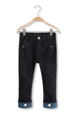 Esprit / Schwarze Stretch-Denim Jeans mit Augen