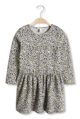 Esprit / Cotton blend jersey dress with leopard print