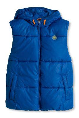 Esprit / Padded, basic hooded gilet